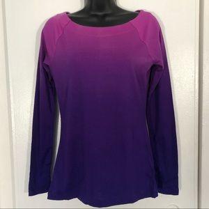 NWT Purple Scoop Neck Long Sleeve Top!